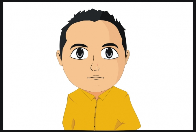 create cute avatar vector of you in my style
