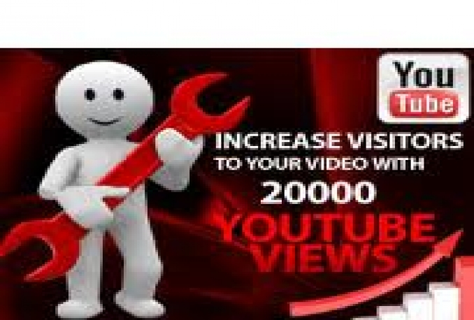 give you 19999 youtube views, 15+ likes, 30+subscribers