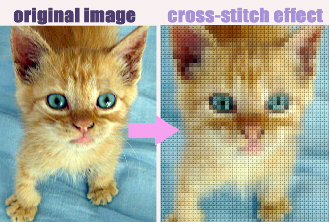 create a cross stitch image with your photo or image