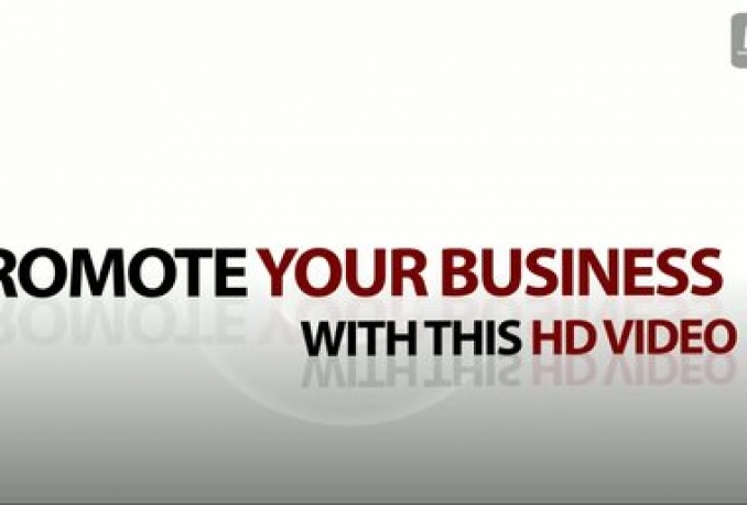 promote your business, service, product, website or whatever you want with elegant HD 1080p video in 24 hours or less
