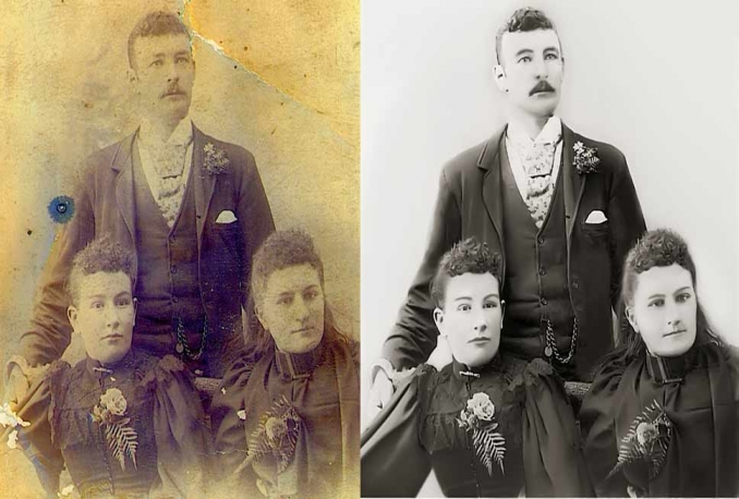 fix your old or damaged photo in photoshop
