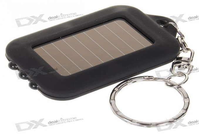 sent you  	 3-LED Solar Panel LED Flashlight Keychain