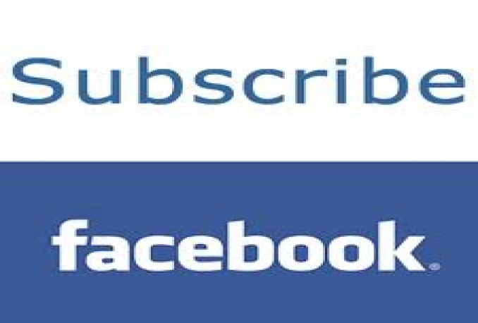 Add 400 Facebook Subscriber/Followers To Your Facebook Account