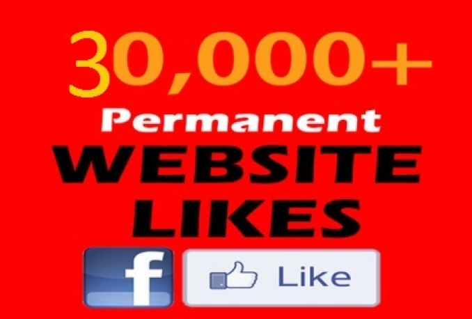 Provide You 30,000+ USA Genuine and Permanent Facebook Website Likes 3000 per Day