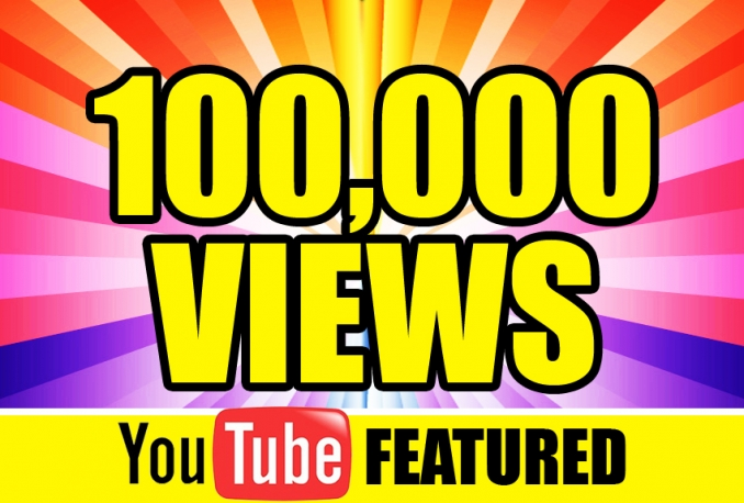 give you 100k to 150k REAL YOUTUBE VIEWS