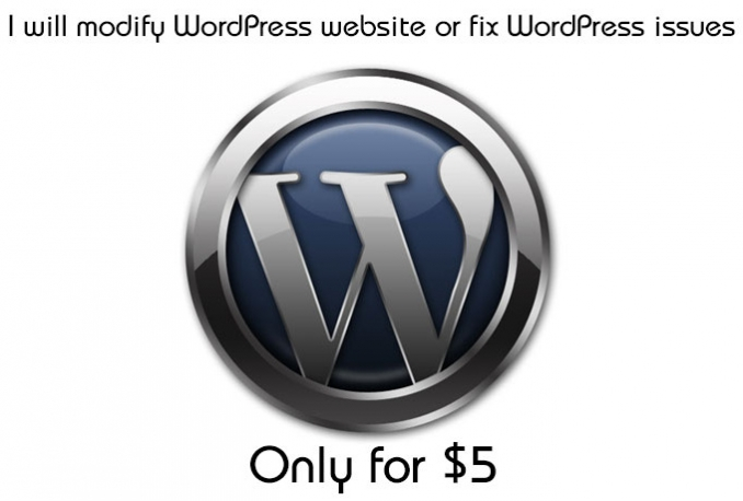 modify WordPress website or fix WordPress issues