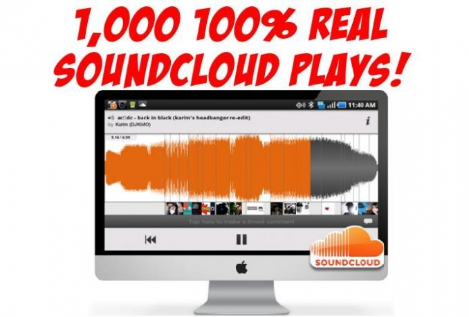 add 40,000+ Real SOUNDCLOUD plays plus downloads from real people not bots