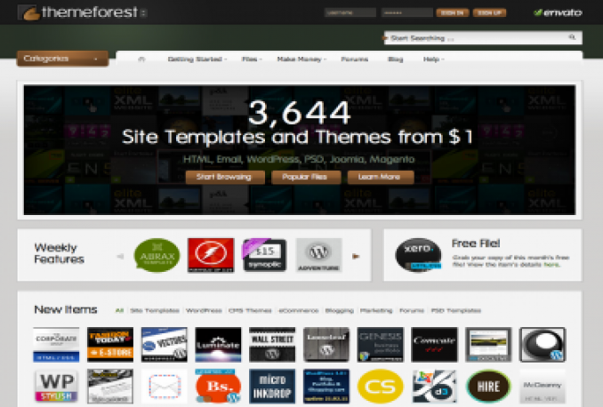 get 1 ThemeForest templates