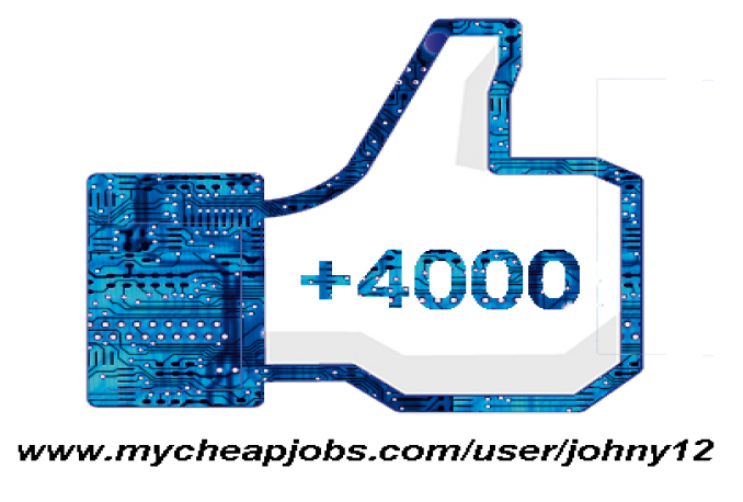 give you 4000 facebook Real and permanent Guaranteed likes