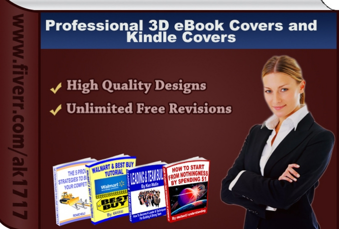 design a professional eBook cover or kindle cover