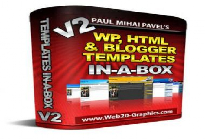 Give You WordPress, HTML And Blogger Templates In-A-Box +MRR