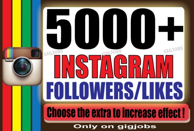 Add 5000+ high quality Instagram Follower/Likes Or Video Views > > > Instant Start and Complete