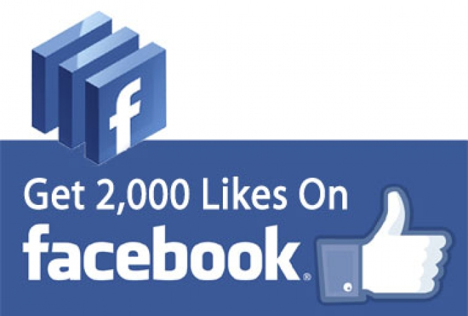 add 2000+ Real Human Facebook Likes to increase your Social Media & SEO
