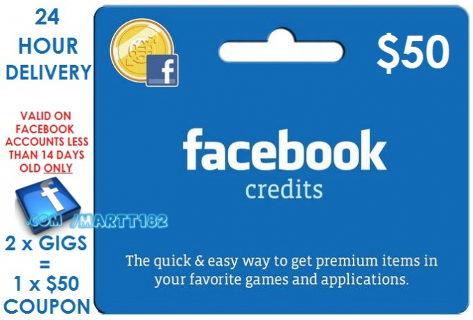 send you genuine WORKING 50 Dollar Facebook Ads Coupon within 24 Hours