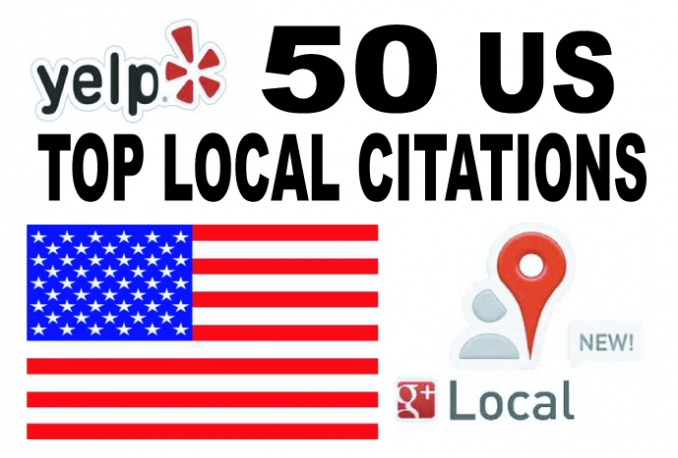 listing  your local business to the 50 top US citations sites to boost your Google places