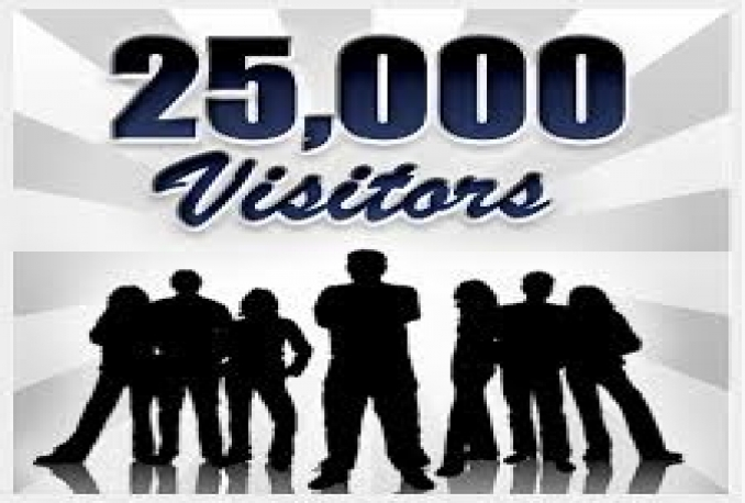 send 25,000 human visitors to your website