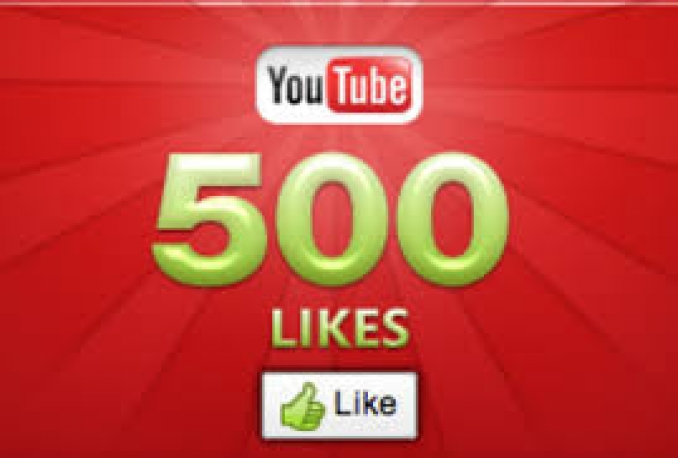 give you Real 500 genuine LIKES to any YouTube videos