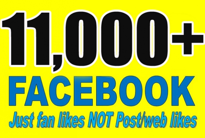 Gives you 11,000+Instantly started Guaranteed Facebook likes