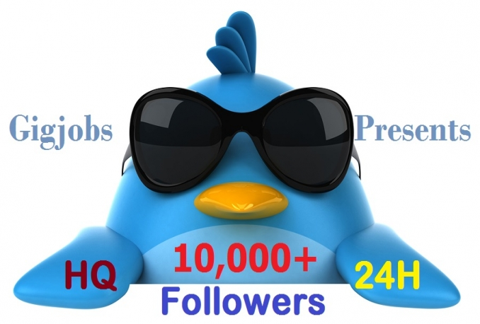 Add 5000 Twitter Followers Within 6-24 hours