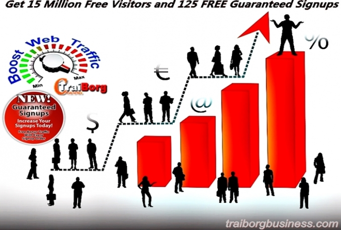 add you 20,000 100% Real Visitors for your Website,Blog Or Referral