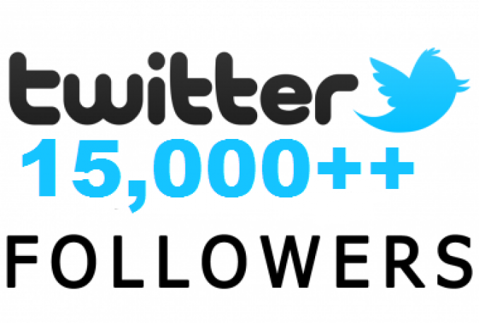 add 15000 Twitter Followers PERMANENT OR 15000 Retweets Instant Delivery