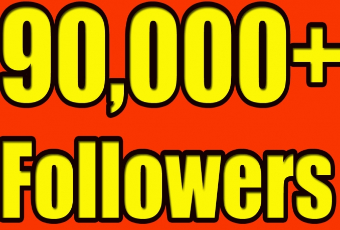 Gives you 90,000 Twitter Real Followers No Egg Real Pics..