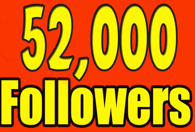 Gives you 52,000+ NON Drop Guaranteed Twitter Followers in 24 hrs