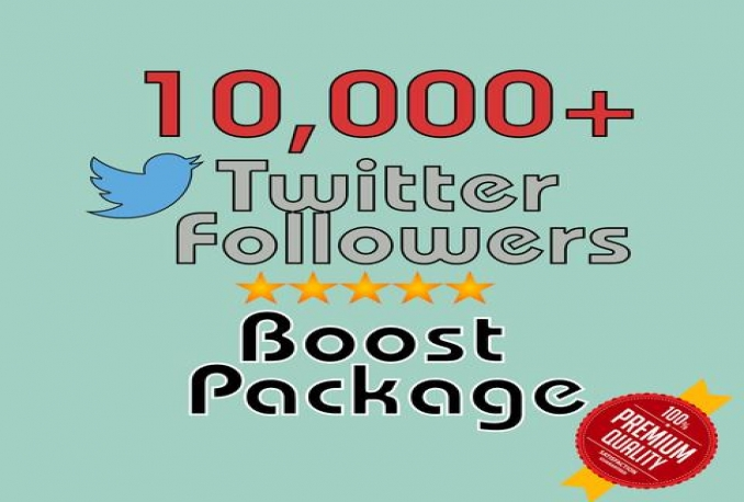 Give you Real Non Drop 10,000 twitter followes Instant 24hrs