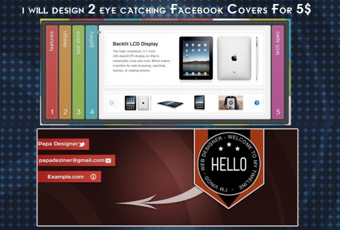 design 2 Professional Facebook Covers