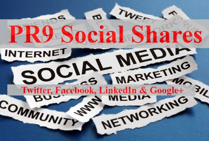 share your link on PR9 social media websites