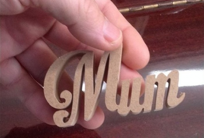 Cut out your 3D Name from CraftWood