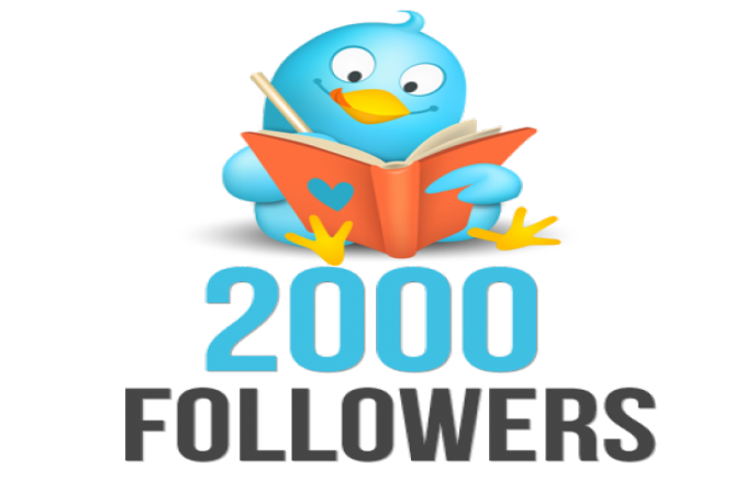 add you 2000 High Quality  twitter followers Instant with in 24hrs