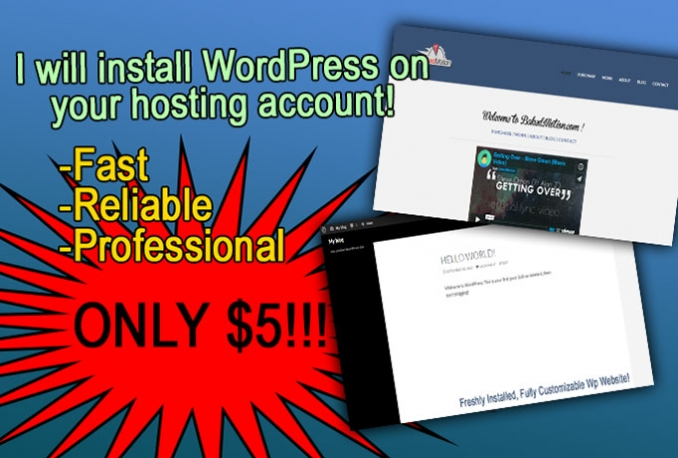 install WordPress on your hosting account and more