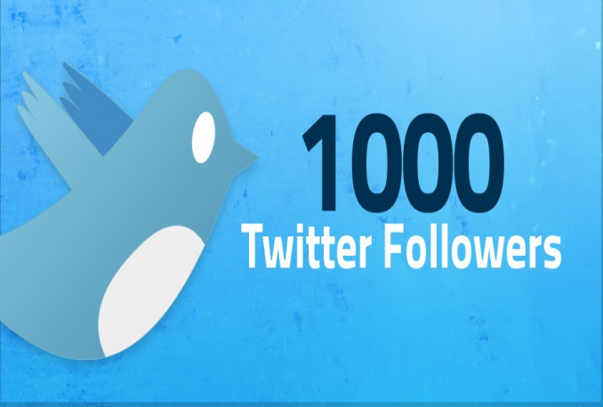 add  1000 High Quality Twitter followers
