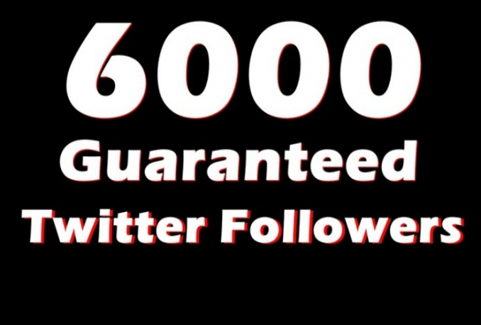 add 6000 HQ Non drop twitter followers Instant 24hrs