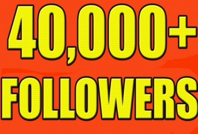 Give you 40,000+Instant twitter Followers in 24 hrs Very Fast