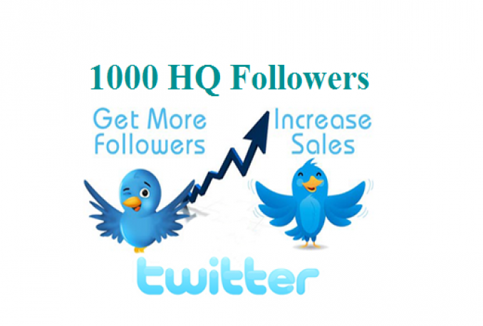 add 1000 Premium HQ Twitter Followers to your account in 24h