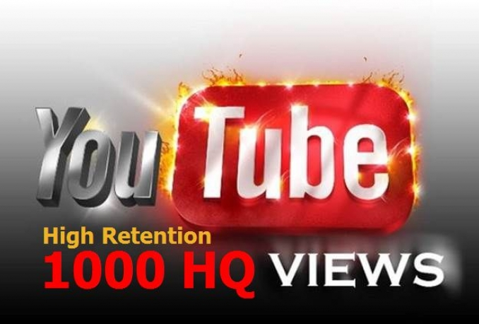 add 1000 SAFE HQ Retention YouTube video views guaranteed