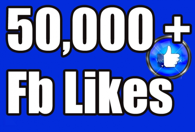 Gives you 50,000+Instantly started Guaranteed Facebook likes