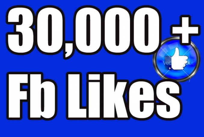 Gives you 30,000+Instantly started PERMANENT Active Facebook likes