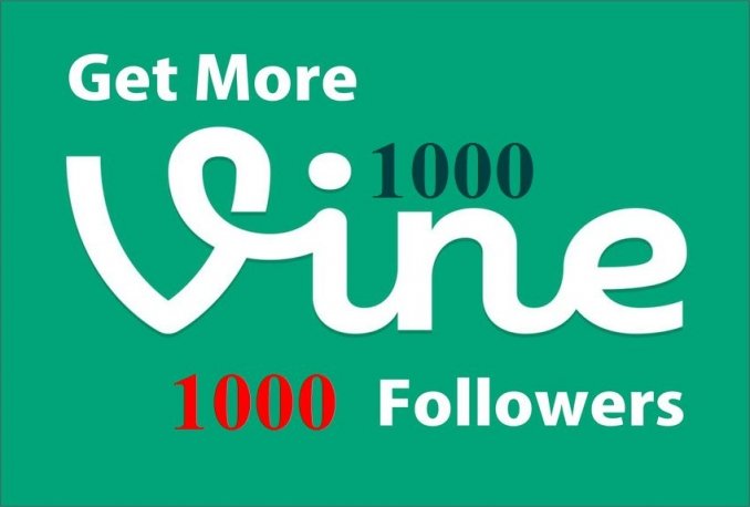 give you 1000 Safe Vine followers