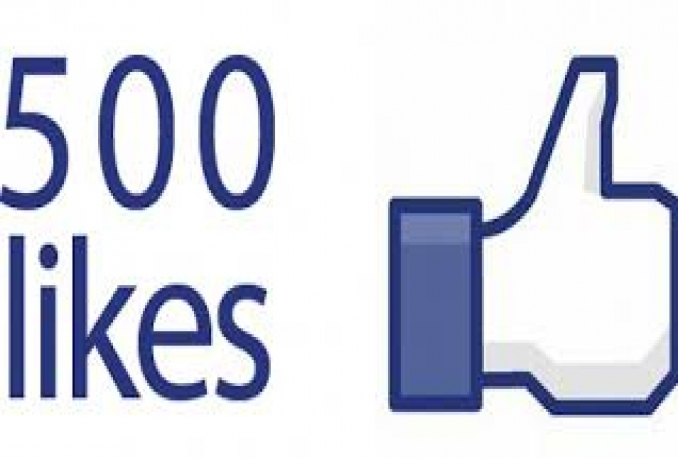 Top Quality 500+ Real And Active Likes to Facebook fanpage