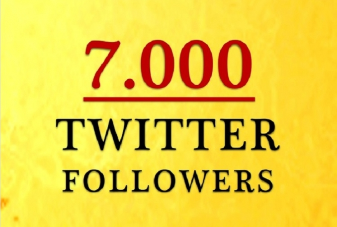 Give you fast Non Drop 7,000 twitter followes Instant 24hrs