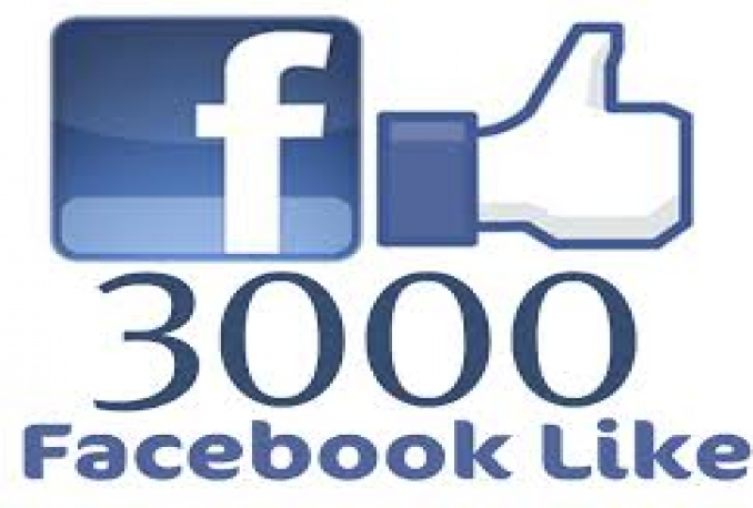 3000+ Real And Active Likes to Facebook fanpage or photo,post,comment