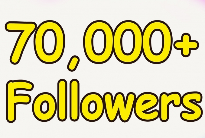 Gives you 70,000+Guaranteed Twitter Real Followers.