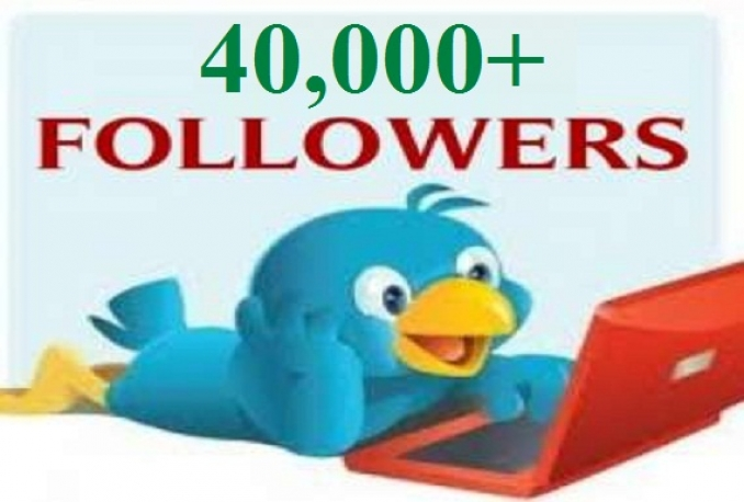 add 100% Non Drop 40,000+Twitter followers Very Fast