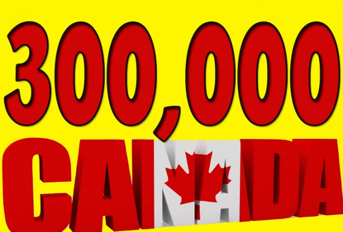 Give you 300,000 Guaranteed CANADIAN Visitors to your site with proofs