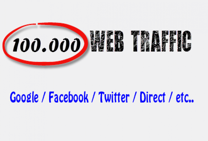 Deliver Fast 100.000 WEB Traffic from Google, Facebook, Twitter, etc .