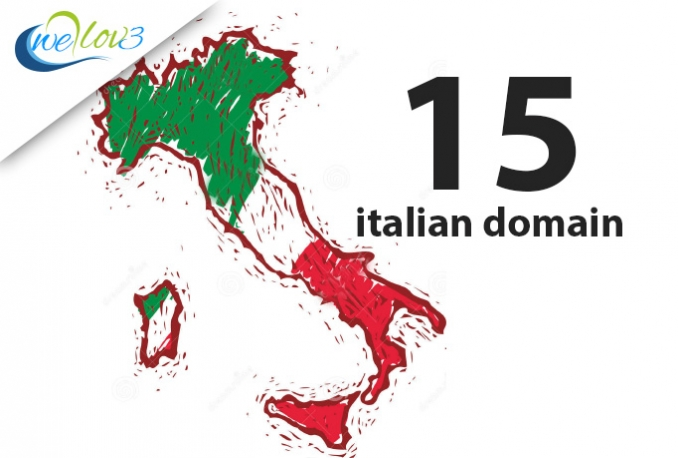 suggest 15 italian domain names for your business