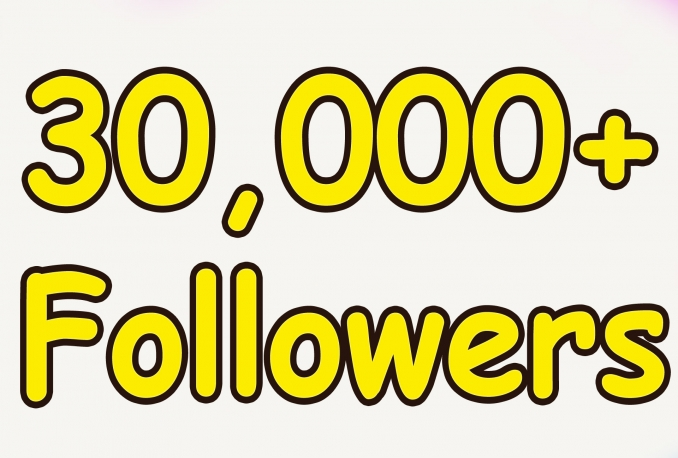 Add Real Quality 30,000 Twitter Followers to your Profile
